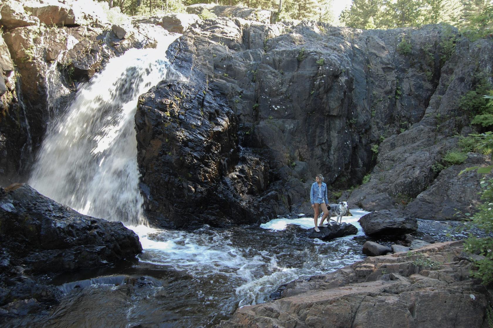 dead river falls, marquette, michigan